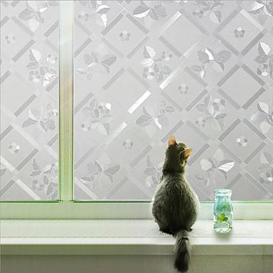 Film de fenêtre et autocollants Décoration Moderne Arbres / Feuilles PVC / Vinyl Film de Fenêtre