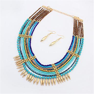Bijoux Colliers décoratifs Boucles d'oreille Collier / Boucles d'oreilles Mode Soirée Quotidien Décontracté 1set Femme BleuCadeaux de