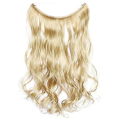 cor peruca de ouro 45 centímetros sintética fio de alta temperatura encaracolados pedaço de cabelo 16/613