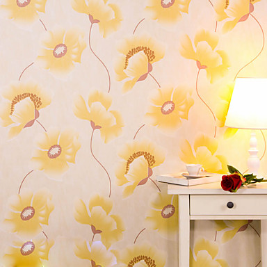 Floral Decoração para casa Moderna Revestimento de paredes , PVC/Vinil Material Auto-adesivo papel de parede , Cobertura para Paredes de