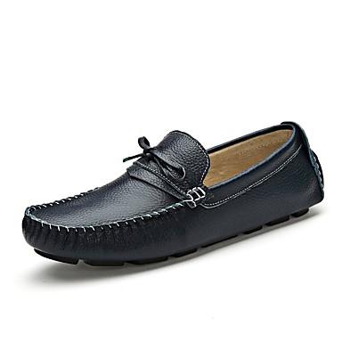 החתונה / משרד נעלי גברים&קריירה / צד&הערב / עור נאפה מזדמן נעלי ספורט שחור / כחול / חום