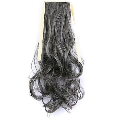noir usine de 50cm de longueur vente directe de type bind prêle friser les cheveux queue de cheval (couleur 4a / 613)