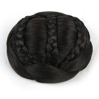 verworrene lockige schwarze europa Braut Perücken menschliches Haar capless Chignons sp-189 2/33