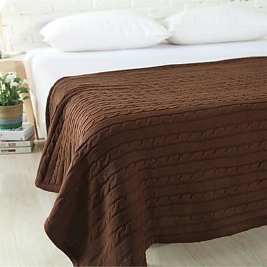 Strick Garnfärbung Massiv 100% Baumwolle Decken