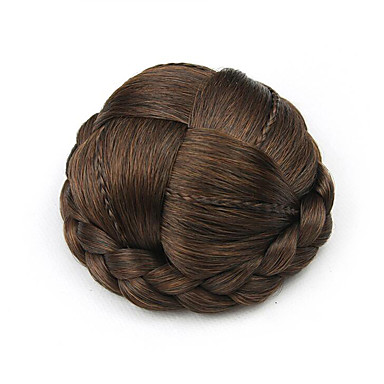 verworrene lockige braun europa kleine menschliches Haar capless Perücken Chignons 2/30