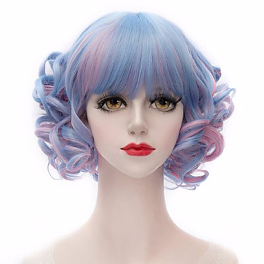 Cabelo Sintético perucas Ondulado Sem Touca Médio