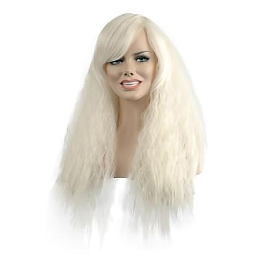 Kvinder Syntetiske parykker Lokkløs Naturlige bølger Hvit costume Parykker
