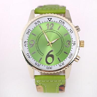 Paar Modeuhr Quartz Armbanduhren für den Alltag Silikon Band Grün Rosa Gelb Rose Gelb Rose Grün Rosa