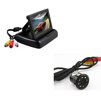 4.3 Zoll TFT-LCD Auto-Rückansicht-Kit Faltbar / Nachtsicht für Auto