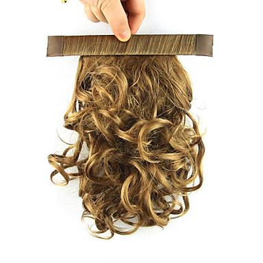נתפס עם קליפס קוקו אלסטי לעטוף שיער סינטטי חתיכת שיער הַאֲרָכַת שֵׂעָר מתולתל