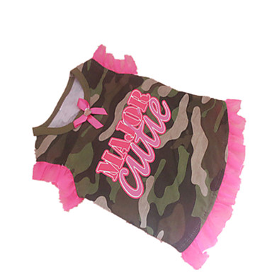 Dog Shirt / T-Shirt Dog Clothes Letter & Number Camouflage Color Cotton Costume For Pets Classic