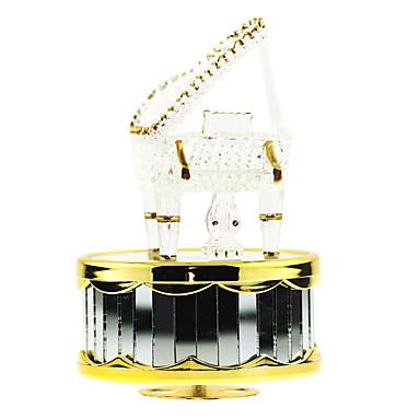 abs blanc créatif boîte de musique romantique pour le cadeau