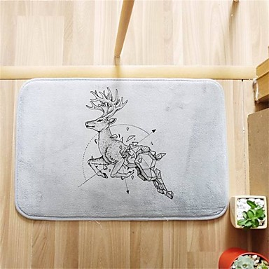 Bath Mat Modern Flannel Drink Coffee W16