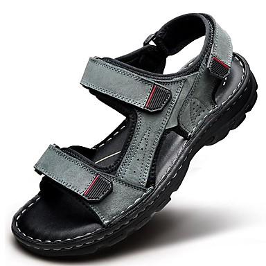 בגדי ריקוד גברים נעליים עור נאפה Leather אביב קיץ נוחות ל אתלטי קזו'אל משרד קריירה בָּחוּץ שמלה שחור אפור חום