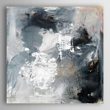 handgemaltes Ölgemälde abstrakten schwarz und weiß mit gestreckten Rahmen 7 Wand ARTS®
