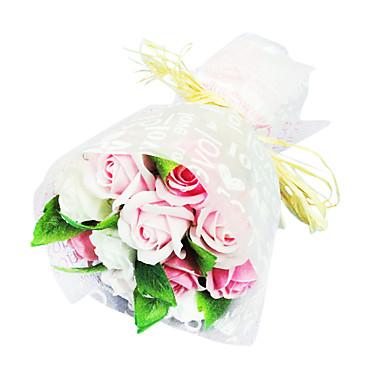סבון חידוש רומנטי עלה מתנת פרח לשטיפת אוהבים