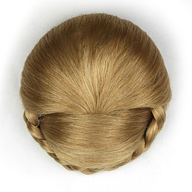 verworrene lockige Gold Art und Weise menschliches Haar capless Perücken Chignons 1011