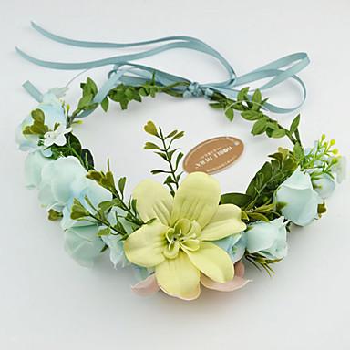 Dame Blomsterpige Stoff Hodeplagg-Bryllup Spesiell Leilighet Avslappet Utendørs Kranser 1 Deler