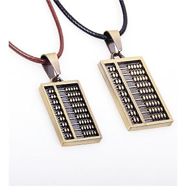 Modische Halsketten Anhängerketten Schmuck Hochzeit / Party / Alltag / Normal / Sport Leder / Titanstahl Goldfarben 1 Paar Geschenk