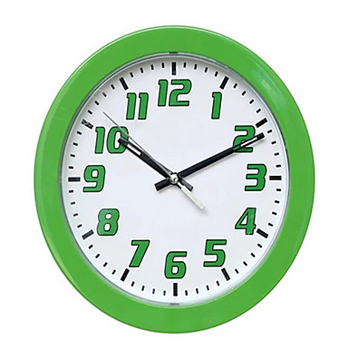 Moderno/Contemporâneo Outros Relógio de parede,Redonda Relógio