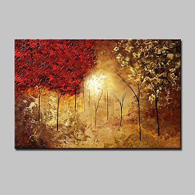 mintura® grandes árvores pintadas à mão paisagem pintura a óleo sobre tela arte da parede picture one panel with frame pronto para pendurar