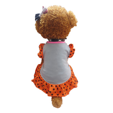 Dog Dress Gray Dog Clothes Summer Hearts