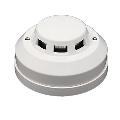 Fotocelle brann røykvarsler kablet alarm sensor output no / nc DC12V justerbar følsomhet for hjem sikkerhet