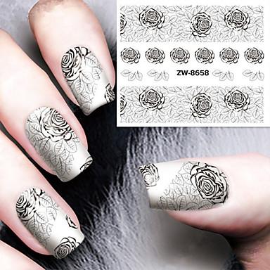1 pcs Etiqueta engomada de la transferencia arte de uñas Manicura pedicura Moda Diario