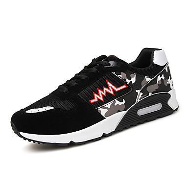 AILE בגדי ריקוד גברים נעלי ריצה / נעלי הרים / נעלי יומיום נגד החלקה, נושם, עמיד בפני שחיקה צעידה / טיפוס / ספורט פנאי שחור / אדום / כחול