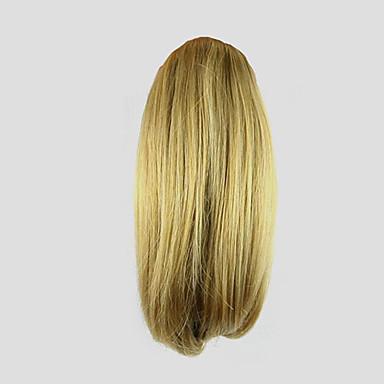 10 Zoll Blondine Mit Clip Locken Pferdeschwanz Bärenkralle / Kieferclip Synthetik Haarstück Haar-Verlängerung