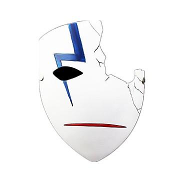 Maske Cosplay Fest/Feiertage Halloween Kostüme Weiß Druck Maske Halloween Unisex