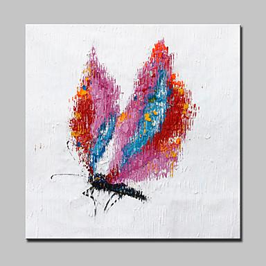 יד גדולה ציור עיצוב בית אמנות קיר תמונת פרפר בעלי חיים מודרניים מופשט שמן בד צבוע עם מסגרת
