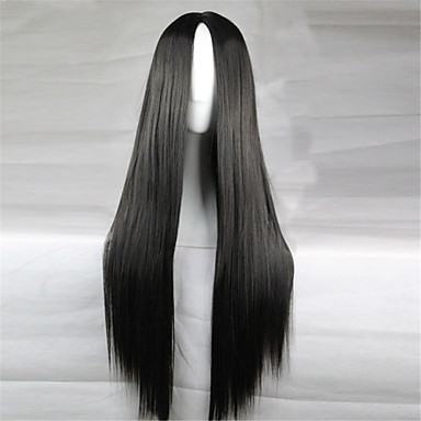 Synthetische Perücken Glatt Kinky Glatt Kappenlos Karnevalsperücke Halloween Perücke Synthetische Haare