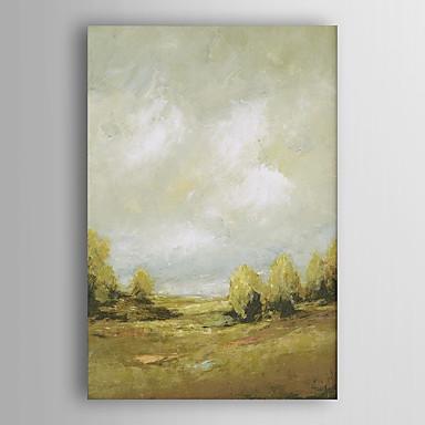 יד נוף מופשט נוף ציור צייר שמן של העץ עם arts® מסגרת 7 קיר נמתחה