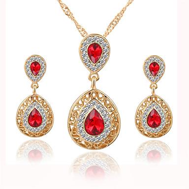 Femme Set de Bijoux Collier / Boucles d'oreilles Mode Cristal Strass Alliage Colliers décoratifs Boucles d'oreille Pour Mariage Soirée