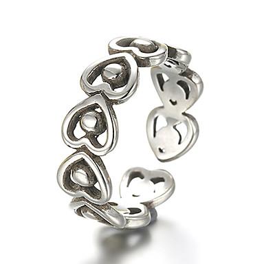 levne Fashion Ring-Band Ring Nastavitelný kroužek prstenec Stříbro Stříbrná Vintage Punk Fashion Ring Šperky Stříbrná Pro Denní Ležérní Nastavitelný