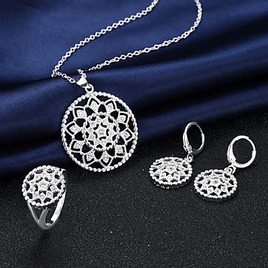 Künstliche Perle Kreisform Silber Halsketten Ohrringe Ringe Für Hochzeit Party Alltag Normal 3 Stück Hochzeitsgeschenke
