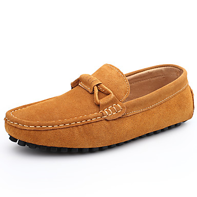 Herrn Schuhe Leder / Wildleder Frühling / Herbst Komfort Loafers & Slip-Ons Grau / Braun / Burgund / Lederschuhe