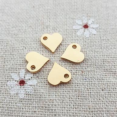 Homens Feminino Casal Formato de Coração Prata Chapeada Chapeado Dourado 18K ouro Liga Amor Prata Dourado Jóias Para 20pçs