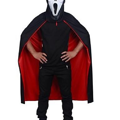 o dia das bruxas preto vermelho Cosplay teatro prop um casaco com capuz morte manto diabo manto ab usar longo tippet adulto capa com capuz