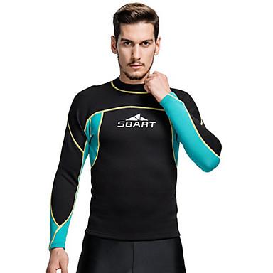 SBART Herre 2mm Våtdrakter Våtdrakt - topp Hold Varm Komprimering Tactel Dykkerdrakt Dykkerdrakter Badetøy T-Trøye Topper-Dykking Surfing
