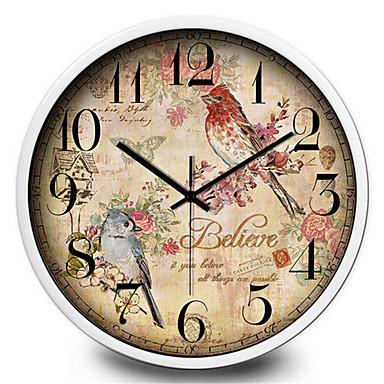 Moderno/Contemporâneo Outros Relógio de parede,Redonda Metal Interior/Exterior Relógio