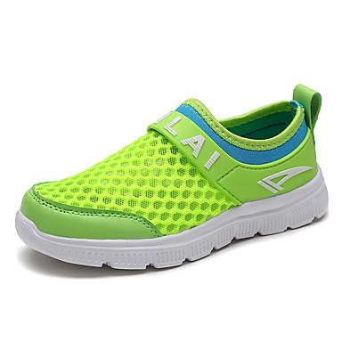 Para Meninos Para Meninas Sapatos Tecido Primavera Verão Outono Conforto Tênis Rasteiro Com Para Atlético Casual Fúcsia Azul Verde Claro