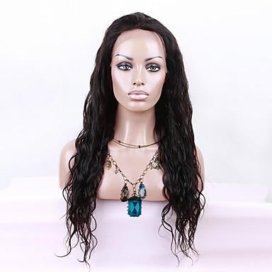 Ekte hår Blonde Forside Parykk Krop Bølge 130% tetthet 100 % håndknyttet Afroamerikansk parykk Naturlig hårlinje Lang Dame Blondeparykker