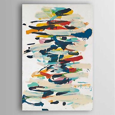 Håndmalte Abstrakt Lodrett, Moderne Lerret Hang malte oljemaleri Hjem Dekor Et Panel