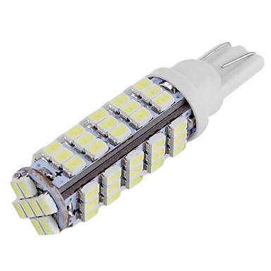 10db t10 1206 68 SMD fehér LED autó oldalán ék lámpa helyzetjelző izzó rendszámtábla világítás (DC12V)