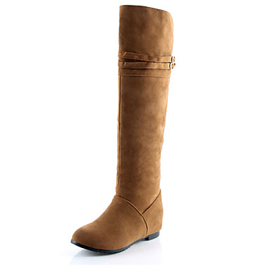 Feminino Sapatos Courino Inverno Outono Botas da Moda Botas Salto Plataforma Botas Curtas / Ankle Presilha para Casual Festas & Noite