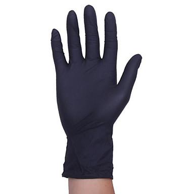 黒使い捨て医療ゴムラテックス手袋帯電防止抗オイルニトリル手袋タトゥー理髪歯科医の手袋
