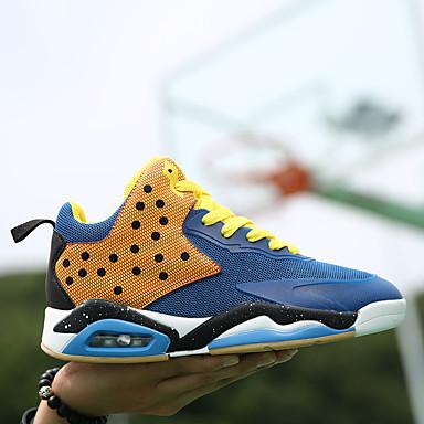 Herre sko Tyll Treningssko Basketball Snøring til Avslappet Oransje Grønn Blå Rosa