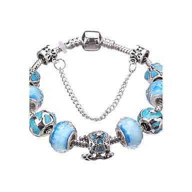 billige Motearmbånd-Dame Vedhend Armband Perlearmbånd Perler Kors damer Mote Akryl Armbånd Smykker Rød / Blå / Rosa Til Fest Daglig Avslappet / Sølvplett
